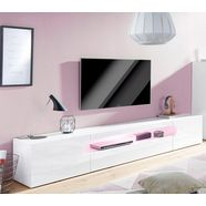 tecnos tv-meubel real breedte 240 cm wit