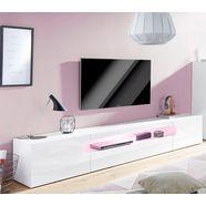 tecnos xxl-tv-meubel »real«, breedte 240 cm wit