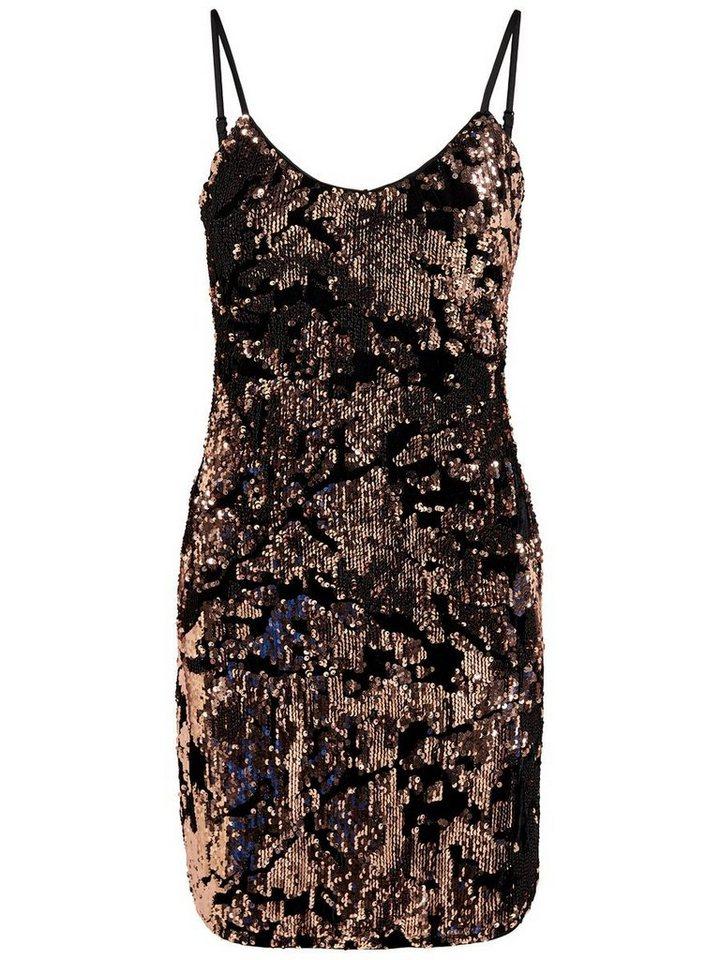 ONLY pailletten Korte jurk bruin