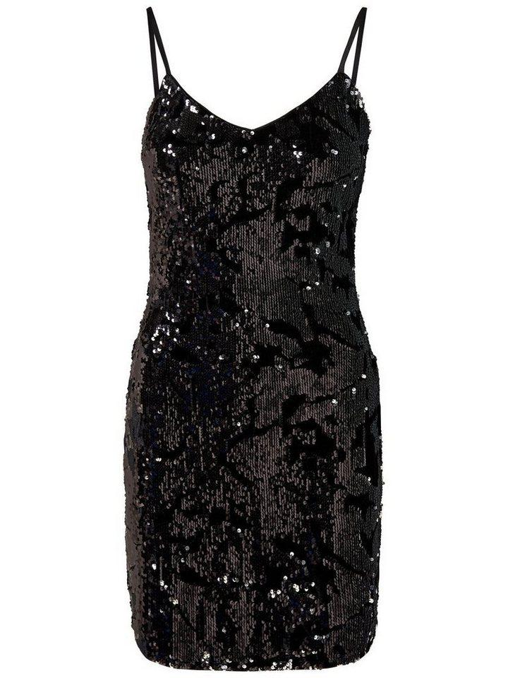 ONLY pailletten Korte jurk zwart