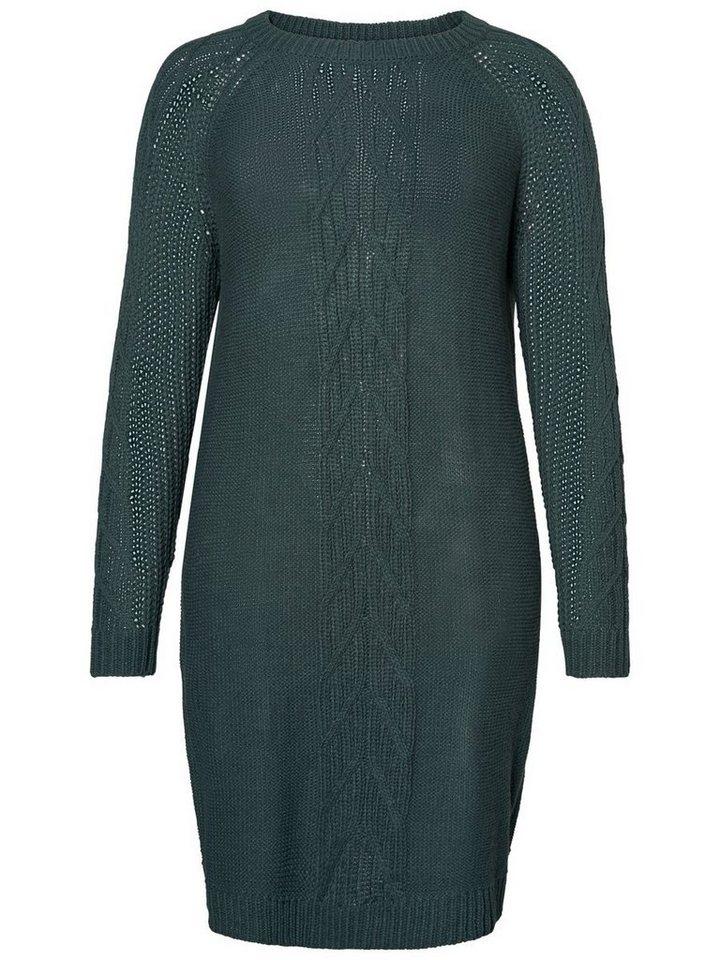 NU 21% KORTING: Junarose gebreide jurk groen