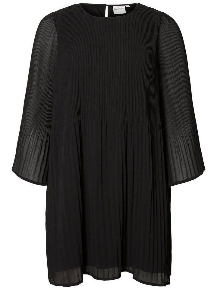 Junarose Plissé jurk zwart