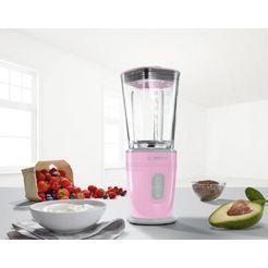 bosch blender vitastyle mixx2go mmbm4g6k met glazen thermosafe-reservoir (600 ml) roze