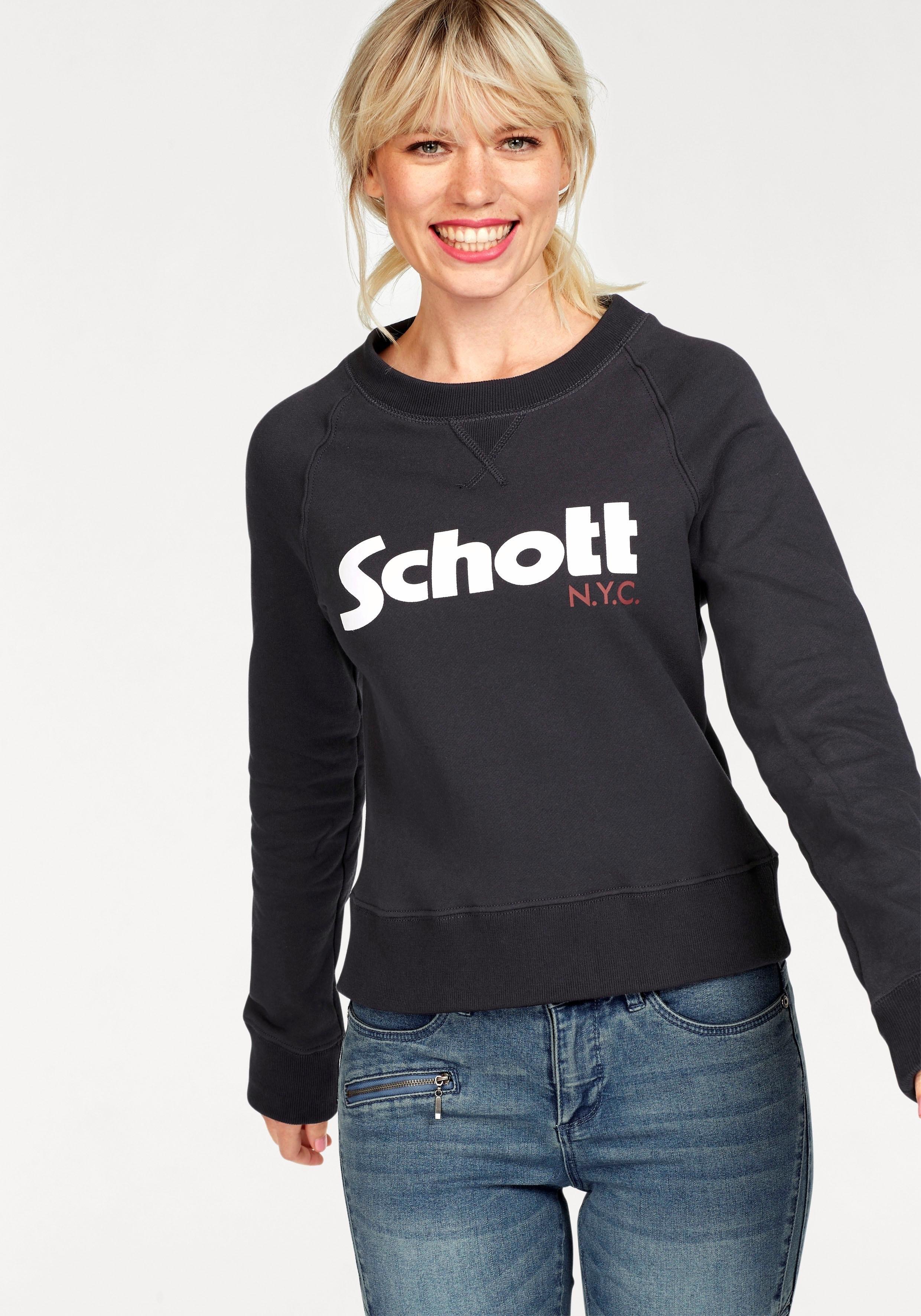 Schott Nyc sweatshirt »SW Ginger 1W« bij OTTO online kopen