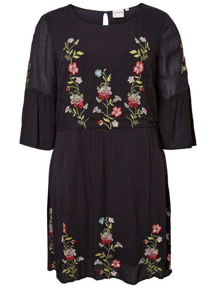 Junarose Geborduurde jurk zwart