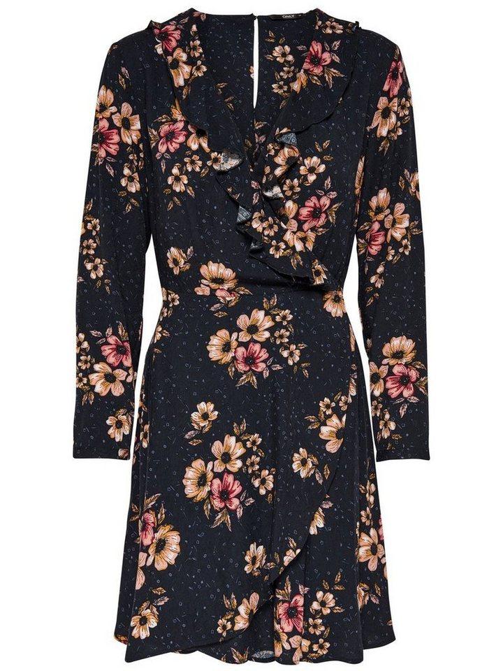 NU 21% KORTING: ONLY Gedetailleerde Korte jurk blauw