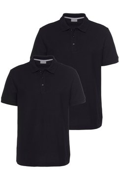 eastwind poloshirt »double pack polo, navy+white« zwart