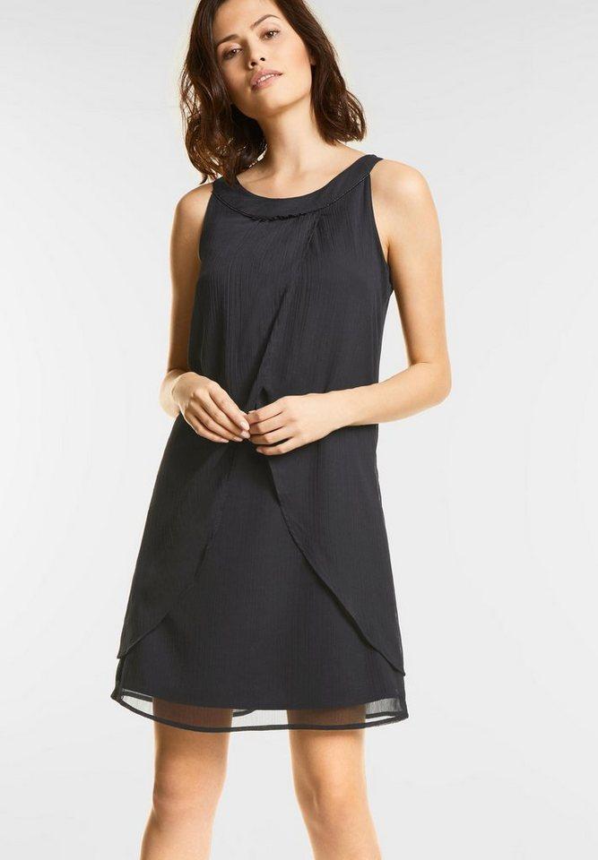 Street One chiffon jurk zwart