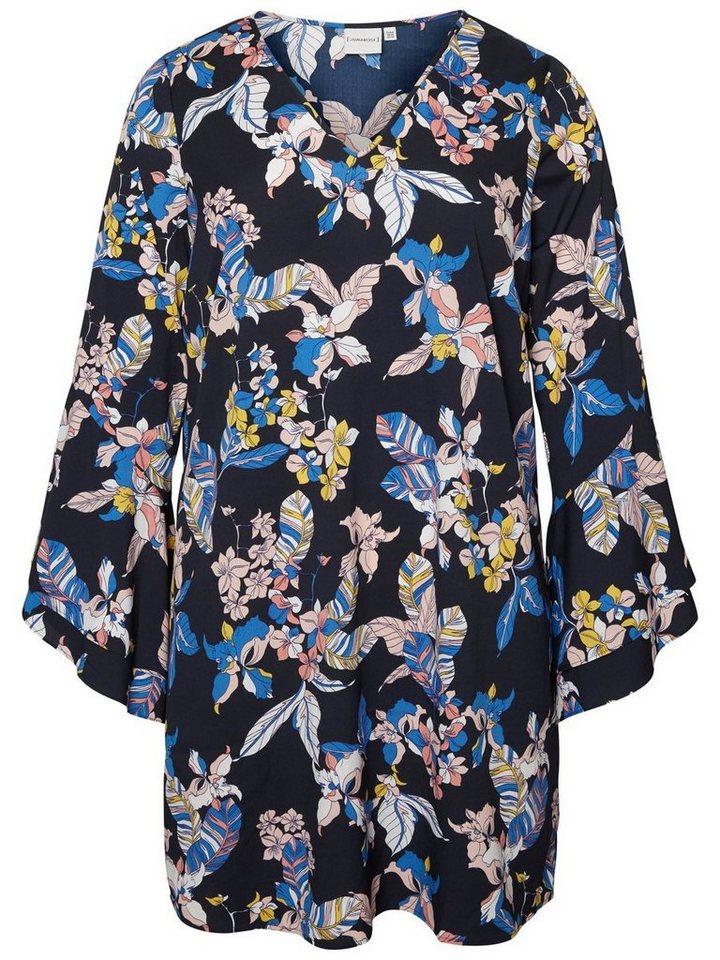 Junarose Met bloemen bedrukte jurk blauw