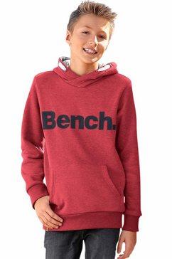 bench. capuchonsweatshirt rood