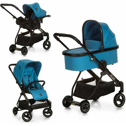 iCoo combi kinderwagen, Acrobat XL Plus Trio Set Diamond Saphire