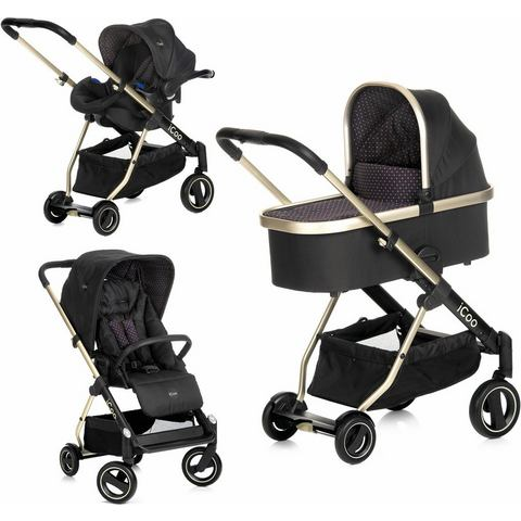 iCoo combi kinderwagen, Acrobat XL Plus Trio Set Diamond Caviar