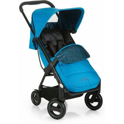 iCoo buggy met licht en stijlvol aluminium frame, Acrobat Fishbone Blue