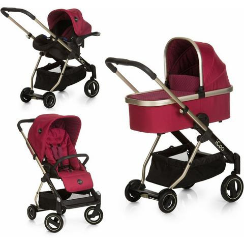 iCoo combi kinderwagen, Acrobat XL Plus Trio Set Diamond Ruby