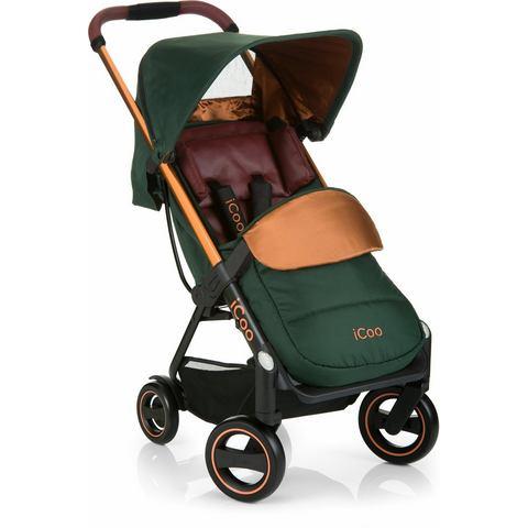 iCoo buggy met licht en stijlvol aluminium frame, Acrobat Copper Green