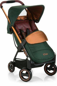 icoo kinder-buggy acrobat copper green met licht en stijlvol aluminiumframe; kinderwagen, buggy, sportbuggy, kinderbuggy, sport-kinderwagen groen
