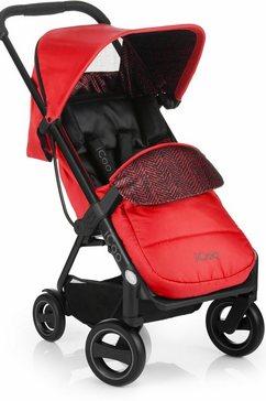 icoo kinder-buggy acrobat fishbone red met licht en stijlvol aluminiumframe; kinderwagen, buggy, sportbuggy, kinderbuggy, sport-kinderwagen rood