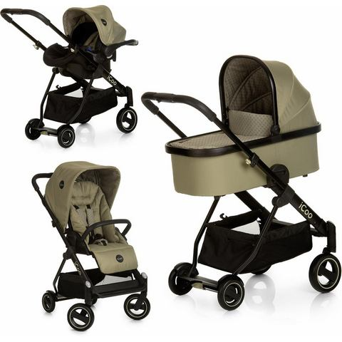 iCoo combi kinderwagen, Acrobat XL plus trio set Diamond Olive