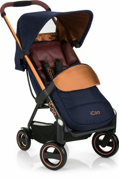 icoo buggy met licht en stijlvol aluminium frame, »acrobat copper blue« blauw