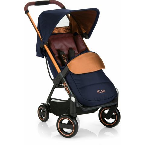 iCoo buggy met licht en stijlvol aluminium frame, Acrobat Copper Blue