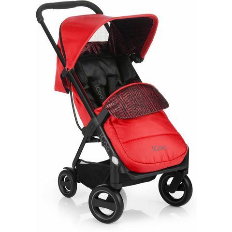 iCoo buggy inclusief autostoel 0+ (vanaf de geboorte), Acrobat Shop'n Drive Fishbone Red