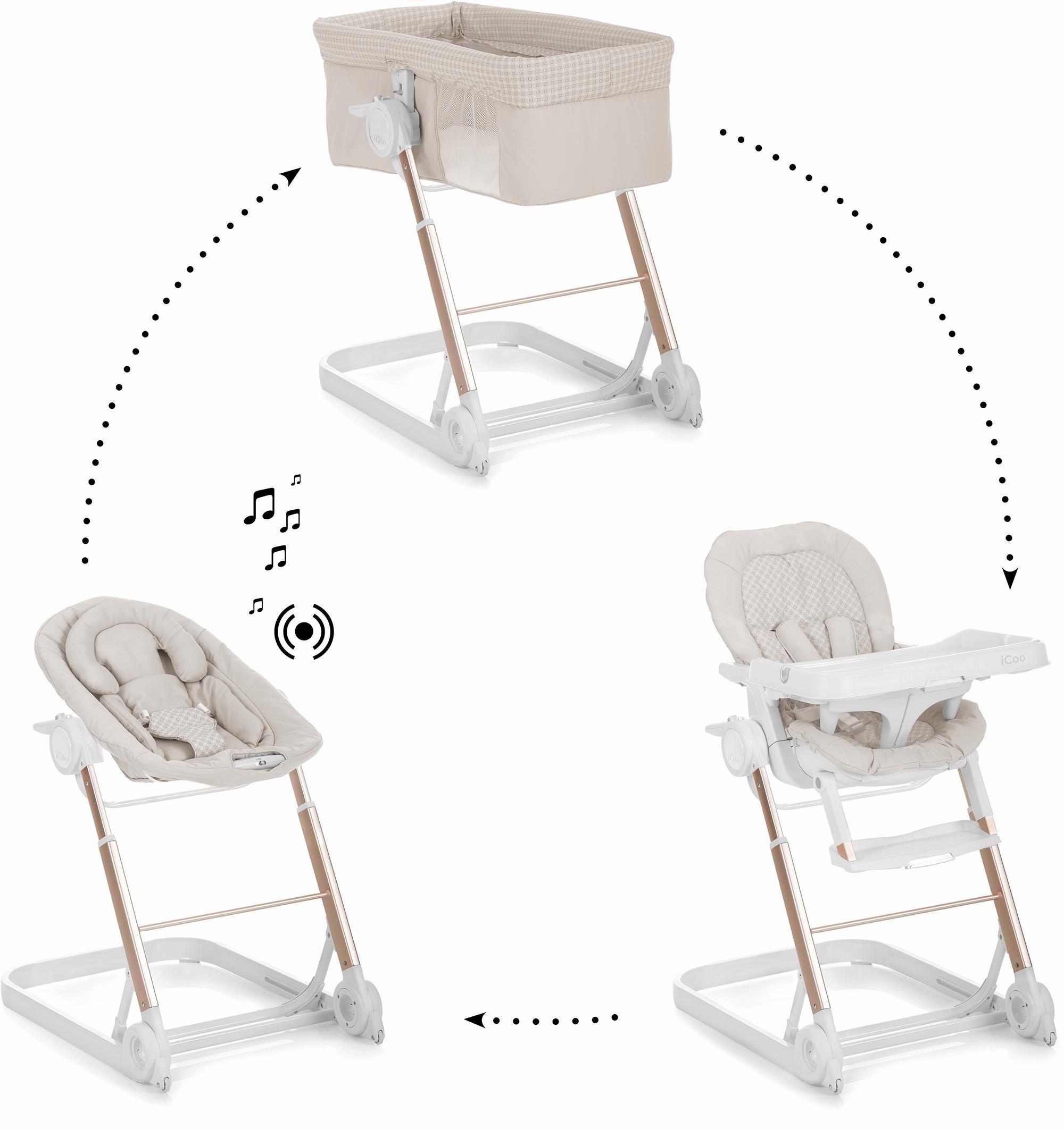 Kinderstoel Baby 0 Maanden.Icoo 3 In 1 Complete Set Babyledikantje En Kinderstoel Grow With