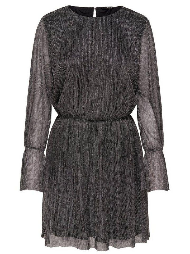 ONLY Gedetailleerde jurk met lange mouwen zwart