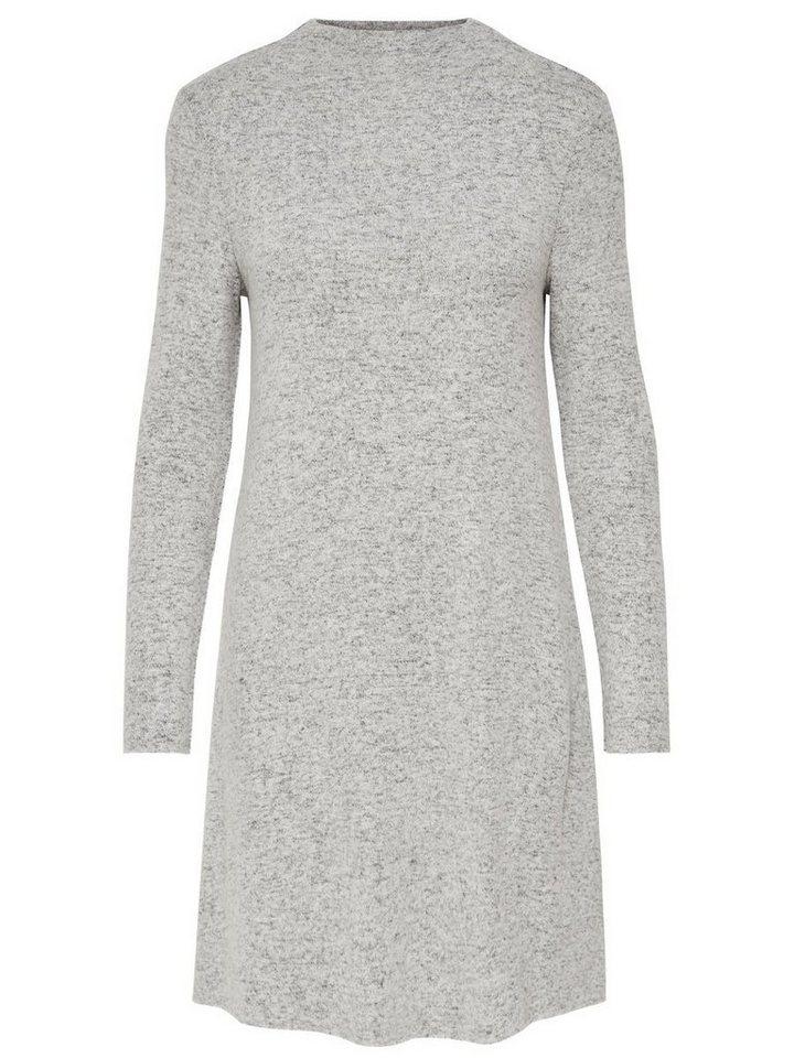 ONLY Lange mouw gebreide jurk grijs