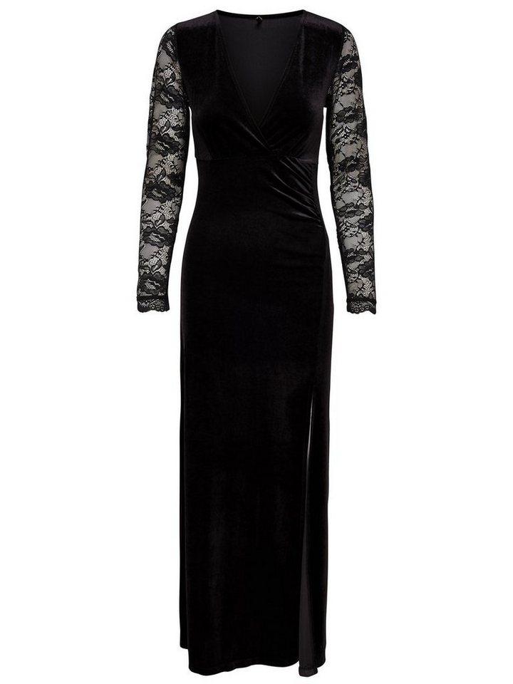 ONLY kanten Maxi jurk zwart