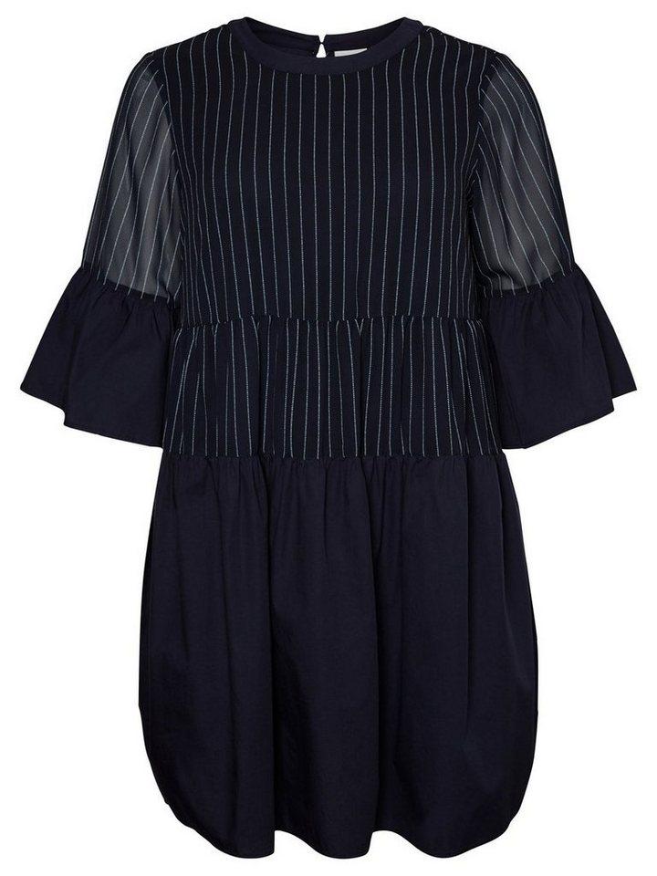 Junarose Gestreepte jurk blauw