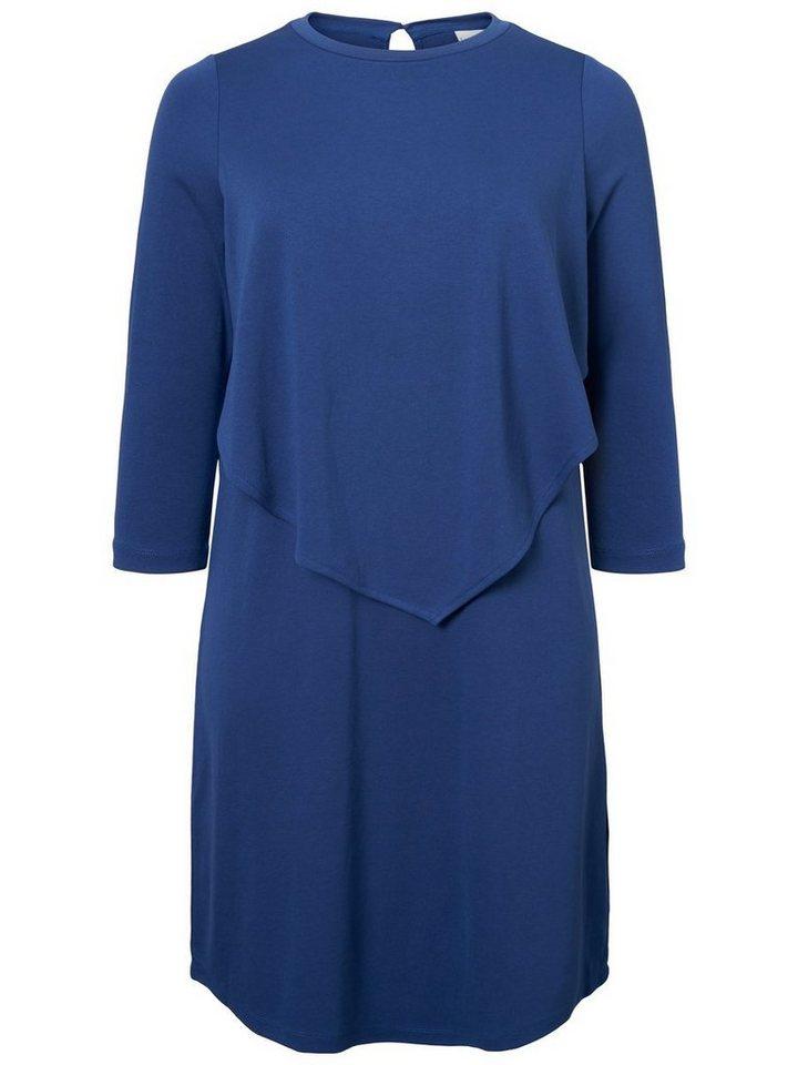 Junarose 3/4-mouw jurk blauw