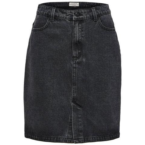 Selected Femme High-waist - Denim rok