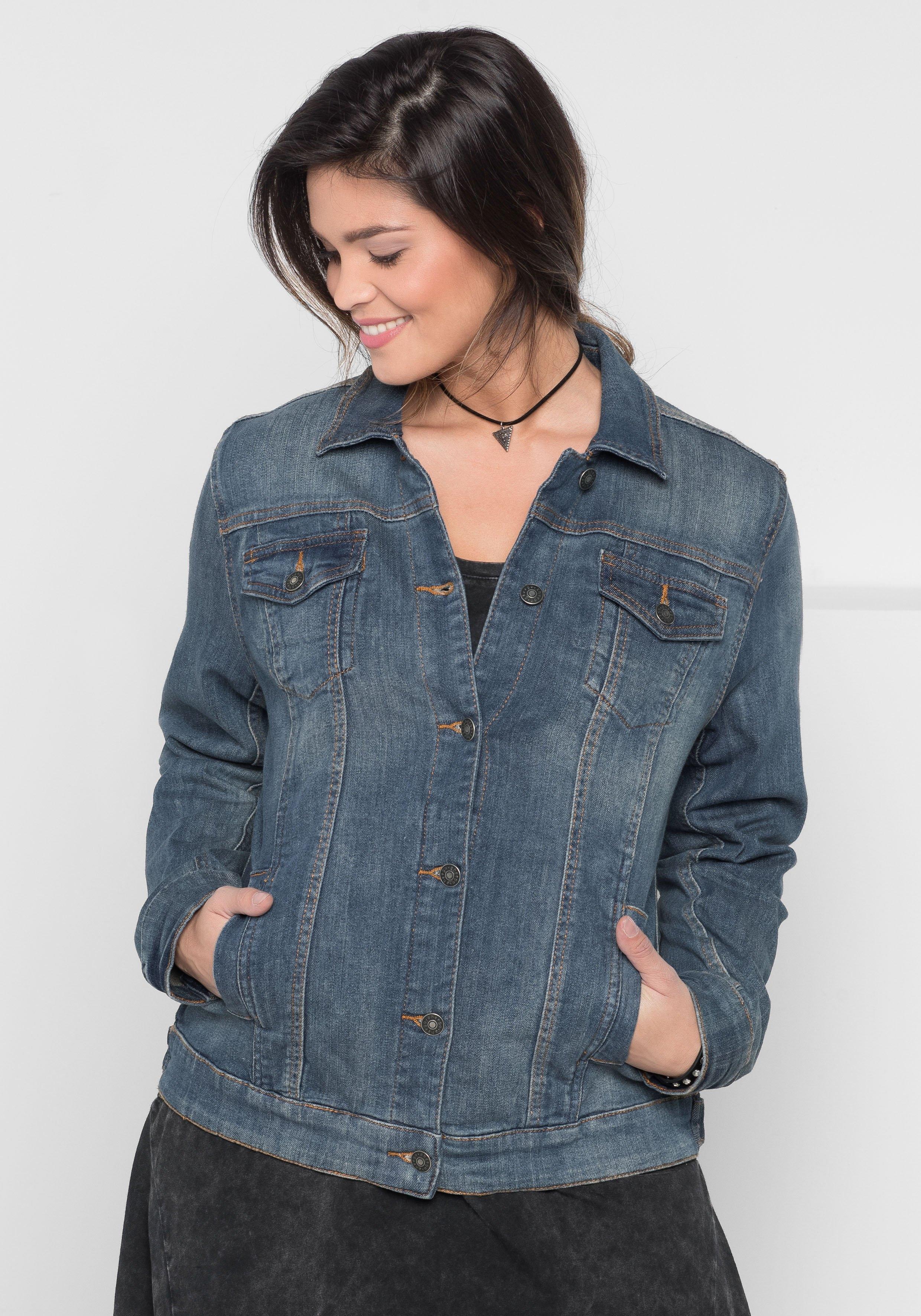Sheego Denim SHEEGO TREND jeansjack bij OTTO online kopen