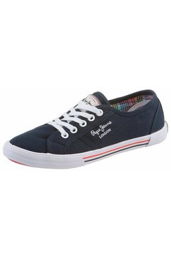 pepe jeans sneakers »aberlady basic« blauw
