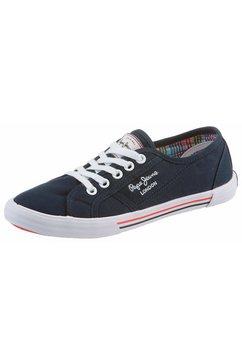 pepe jeans sneakers »aberlady basic« blauw