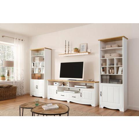 Home affaire wandmeubel Trinidad, set van tv-meubel, wandplank, rek met 1 deur, rek met 2 deuren