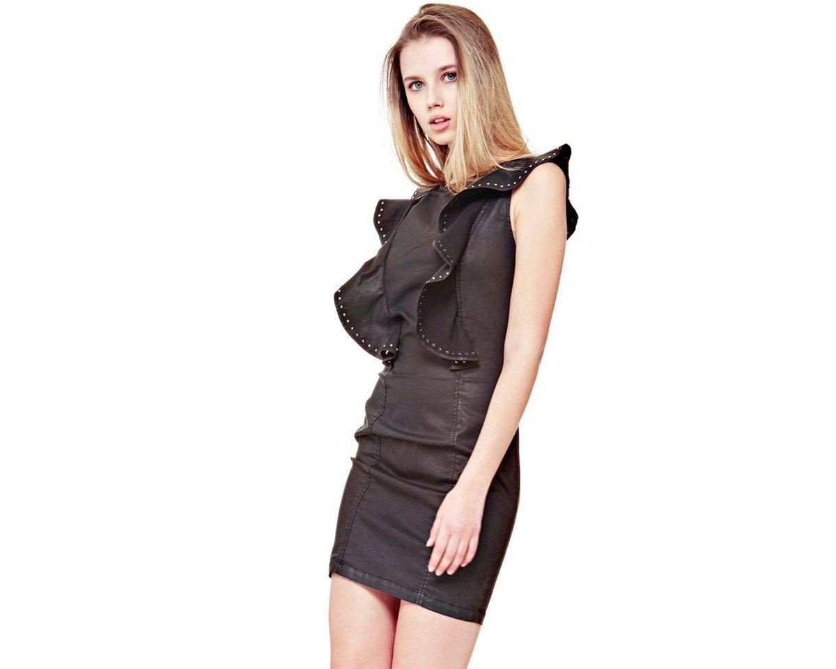 Guess jurk met kapmouwen zwart