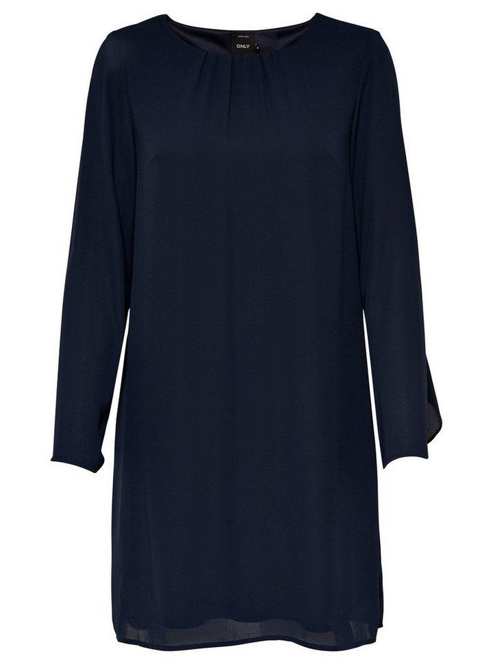 ONLY Ruche Korte jurk grijs