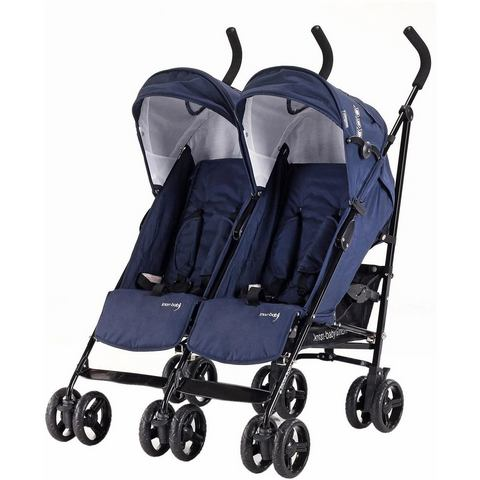 knorr-baby dubbele buggy, Side by Side, navy blue