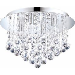 eglo, led-plafondlamp »almonte«, zilver