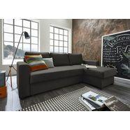 atlantic home collection hoekbank met slaapfunctie en bedkist, récamier links of rechts te monteren, met binnenvering zwart