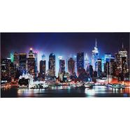 places of style artprint op glas new york city-times square zwart
