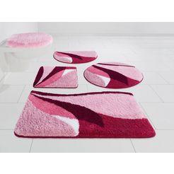 badmat »magnus«, my home, hoogte 20 mm, sneldrogend slijtvast roze