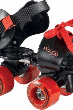 playlife rollerskates, zwart-rood, »sugar kids« rood