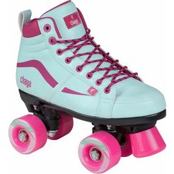chaya rollerskates, meisjes, turquoise-pink, »glide kids turquoise« roze