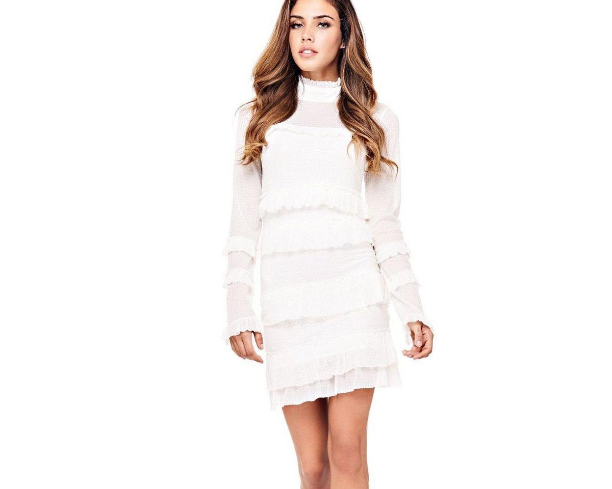 Guess jurk met volants wit