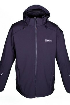 deproc active softshell-jack »nigel peak men« zwart