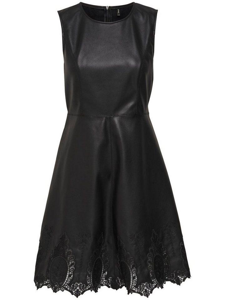 ONLY Leatherlook Mouwloze jurk zwart