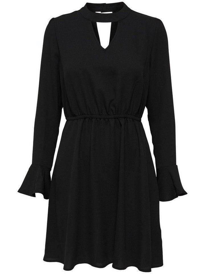 ONLY Choker jurk met lange mouwen zwart