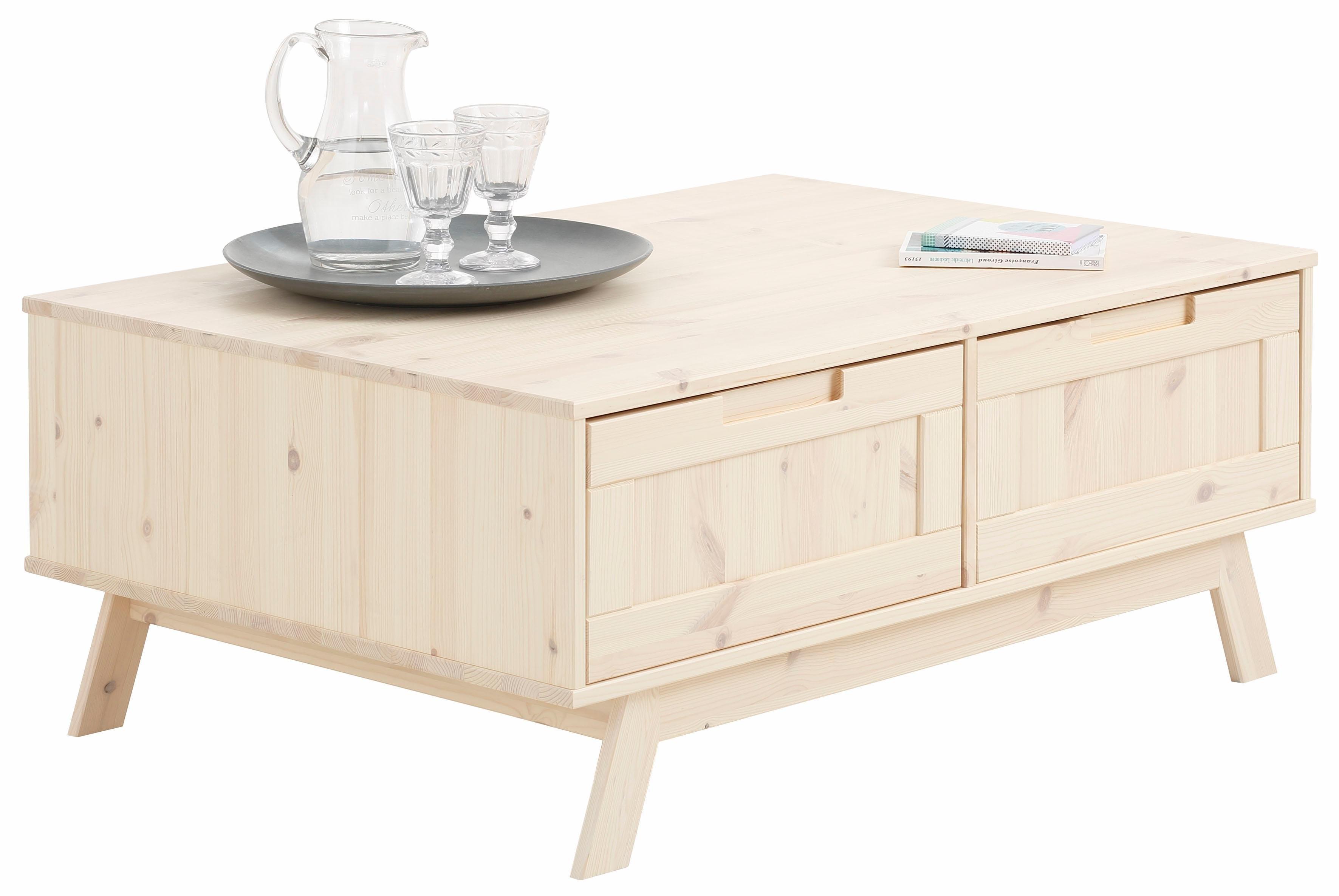 Home affaire salontafel »Ohio«, in traditioneel design, 2 kleppen voor veel bergruimte, 100 cm breed nu online kopen bij OTTO